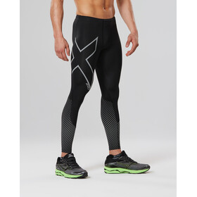 2XU Reflect Compression Tights Men Black/Silver Reflevtive